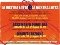 Manifesto MAnifestazione 30 giugno Bari