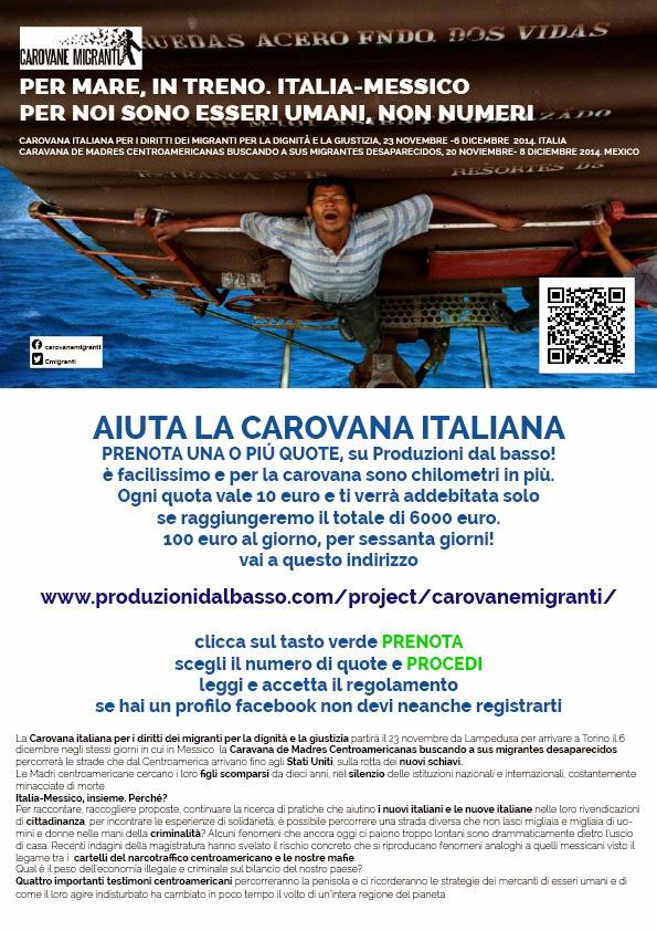 Carovana Italiana dei Migranti manifesto