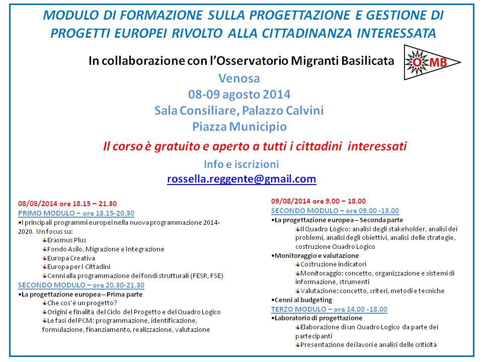 Formzione_Venosa_8-9 agosto 2014
